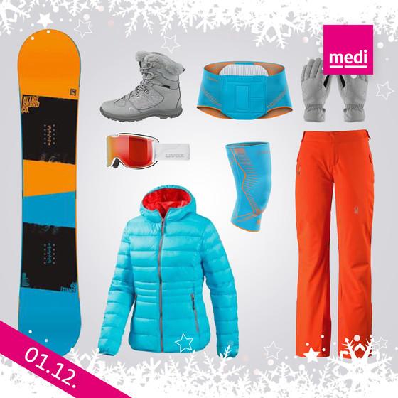 Wintercollage passend zu medi – Bandagen