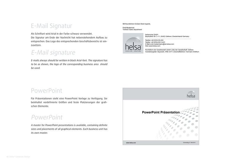 helsa Corporate Design: E-Mail und Präsentation