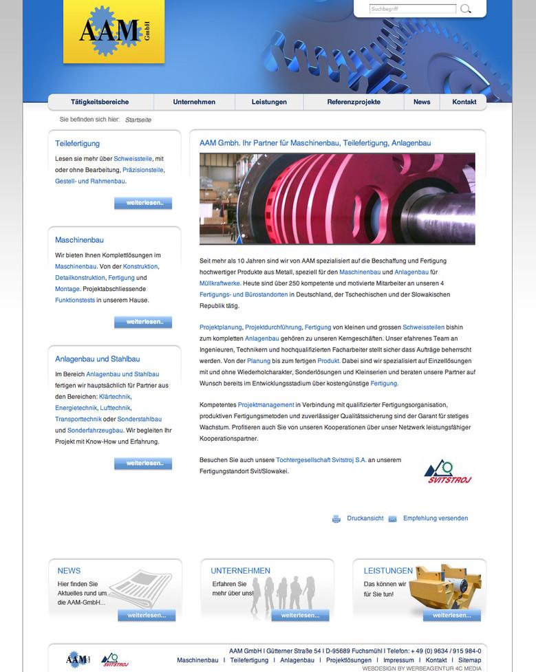 Gut präsentiert – die AAM-GmbH