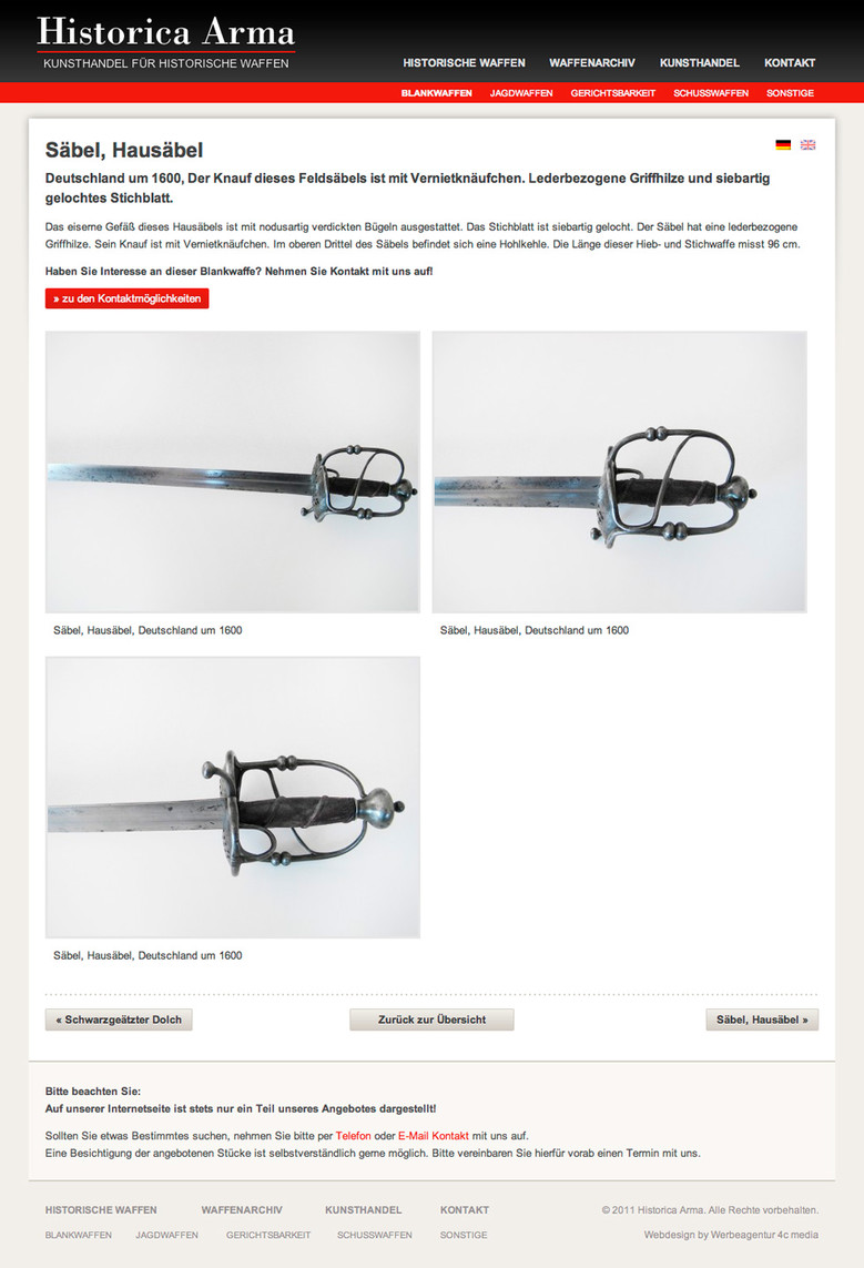 Historica Arma - Artikel Detailseite