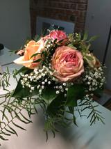 Blumenstrauß am ersten Arbeitstag
