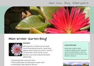 Wordpress Blog eines Kursteilnehmers