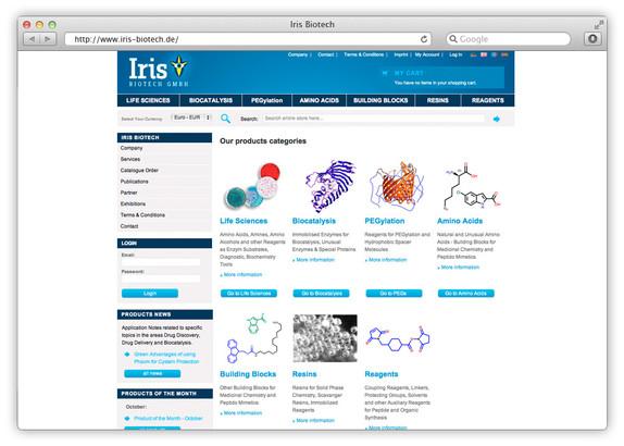 Webshop für Chemikalien