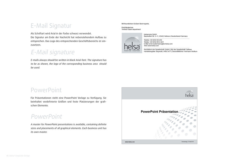 helsa Corporate Design: E-Mail und Präsentation