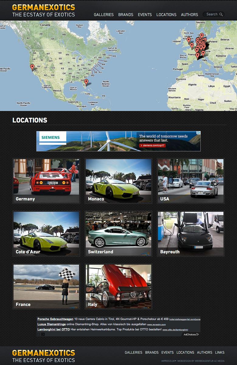 Locations - Hier finden Sie Ihr Lieblingsauto
