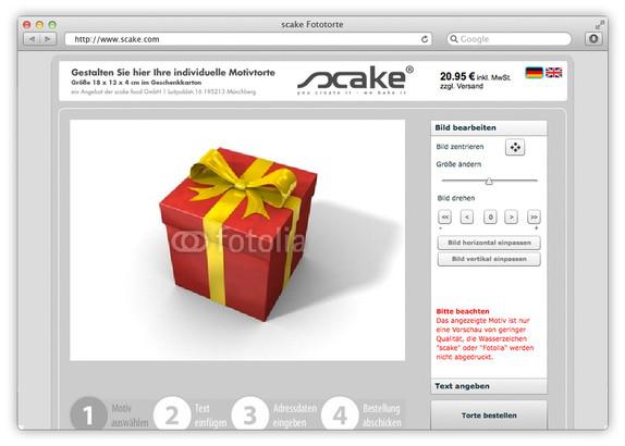 TYPO3-Shop für Online-Tortenbäcker