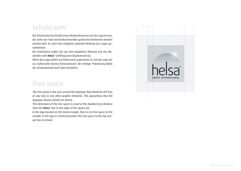 helsa Corporate Design Manual bestimmt jedes Detail
