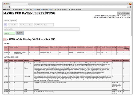 Aktive Anbindung von EasyCatalog an Produktdatenbank