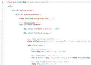 PHP im Template