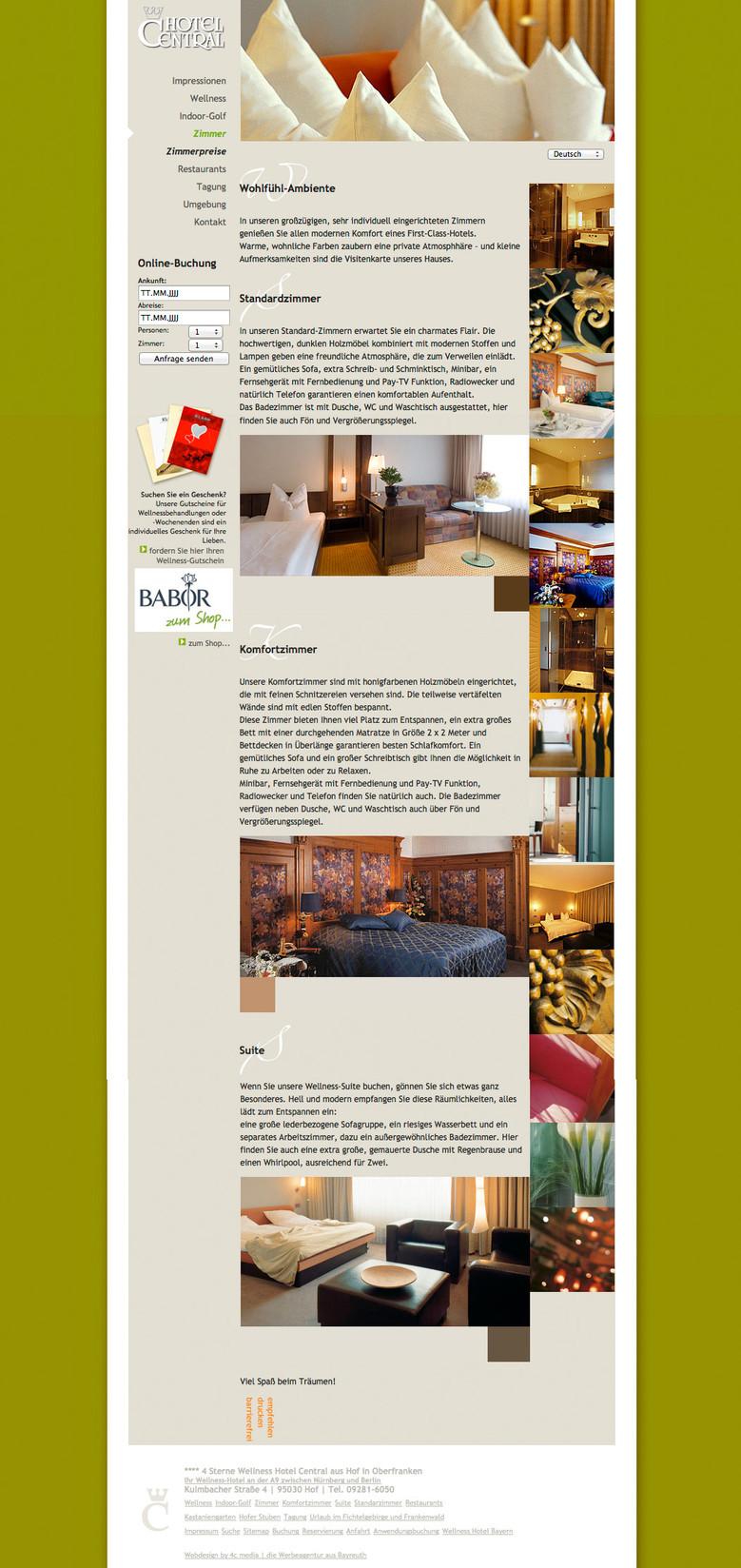Hotel Central - Die Zimmer im Focus
