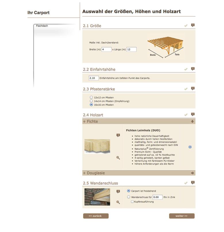 Der Online Kalkulator – In wenigen Minuten zum Wunsch-Carport