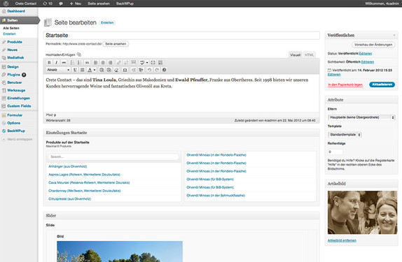 Wordpress als ideale Plattform