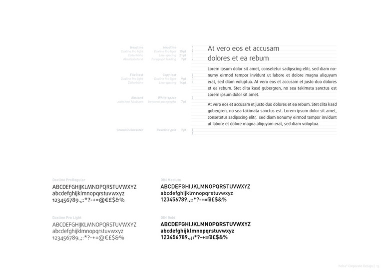 helsa Corporate Design: Typografie