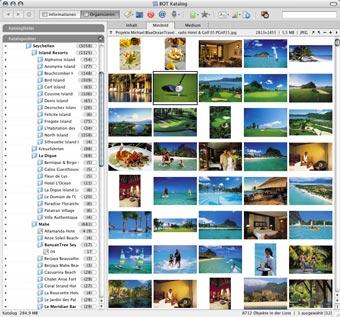 Bilddatenbank für einen Reiseveranstalter mit über 10.000 Bilddaten in Druckqualität zu den Destinationen Seychellen, Malediven, Mauritius und La Reunion.