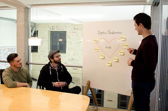 Teammeeting zur digitalen Transformation