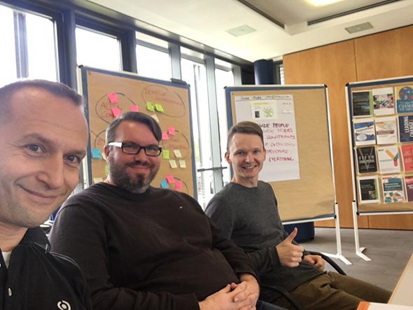 4c Projektmanager und Geschäftsführung beim Management 3.0 Workshop