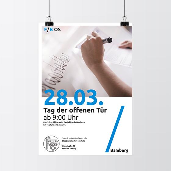 Plakat Entwurf der FOS / BOS Bamberg mit Unterstützung von 4c media
