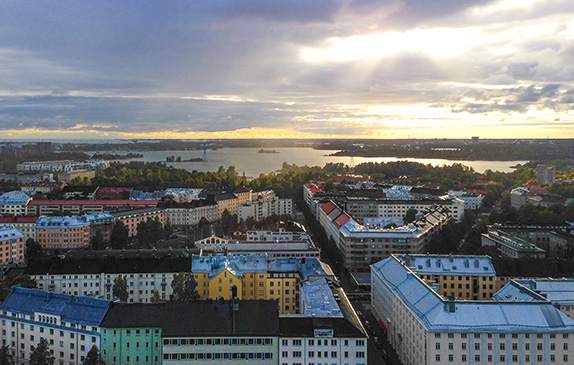 Blick über Helsinki, Finnland