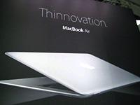 Mit dem MacBook Air stellte Apple ein Leistungsstarkes, nur 1350gr schweres Notebook vor.
